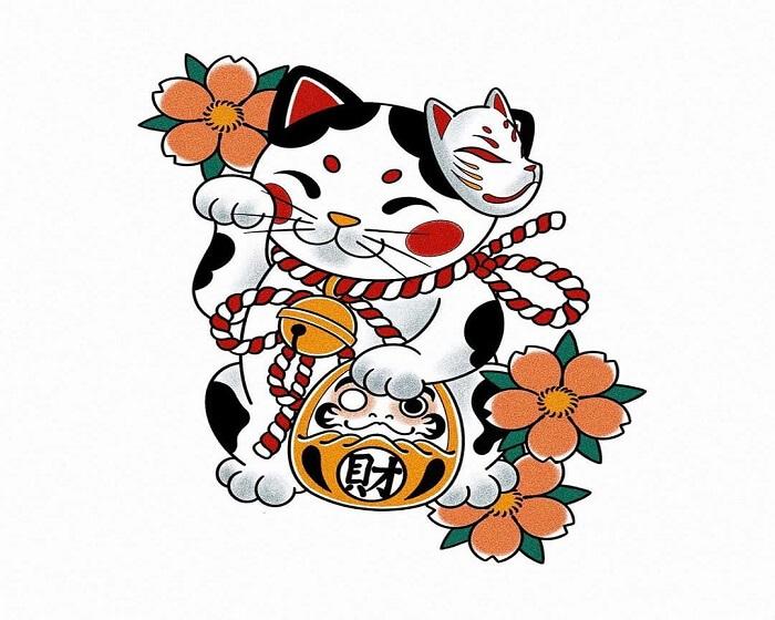 Tại đất nước mặt trời mọc này thì mèo thần tài được gọi với cái tên Maneki Neko