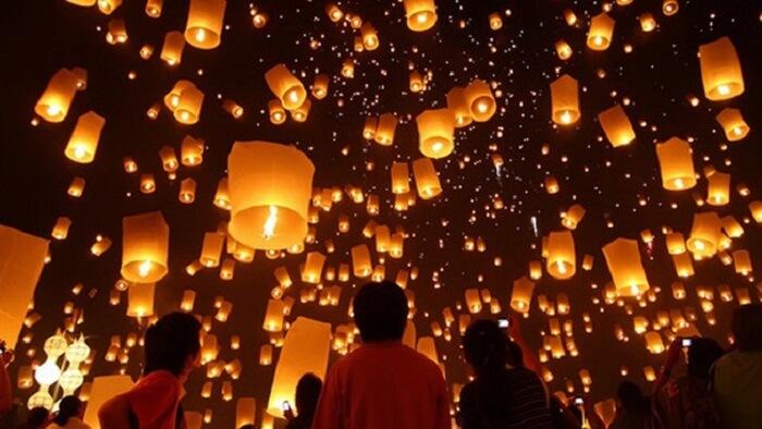 Tết Nguyên tiêu người Trung Quốc thường hay thả đèn trời